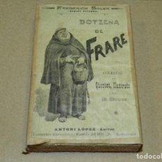 Antigüedades: (M) PLANCHA DE ZINC - PORTADA FREDERICH SOLER - DOTZENA DE FRARE PER M MOLINE. Lote 207013840