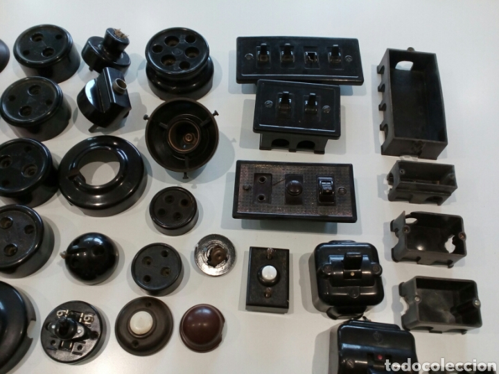 Antigüedades: Lote surtido de Material eléctrico antiguo - Foto 3 - 207024406