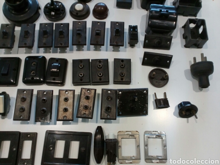 Antigüedades: Lote surtido de Material eléctrico antiguo - Foto 5 - 207024406