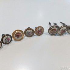 Antigüedades: LOTE 8 POMOS O TIRADORES DE PORCELANA ESMALTADA. Lote 207030410