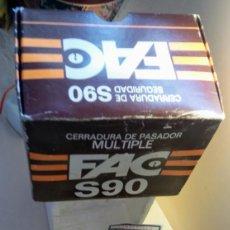 Antigüedades: FAC S90 CERRADURA DE PASADOR MULTIPLE. Lote 207035992