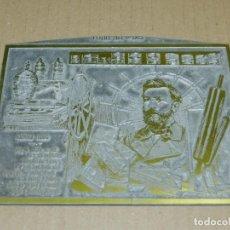 Antigüedades: (M) PLANCHA DE ZINC - CAPS DE BROT - CARLOS LABIELLE - 16X13CM, SEÑALES DE USO NORMALES. Lote 207079187
