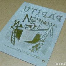 Antigüedades: (M) PLANCHA DE ZINC - PORTADA DE LA REVISTA PAPITU NUM 1440 1936 ILUSTRADO NYERRA. Lote 207097856