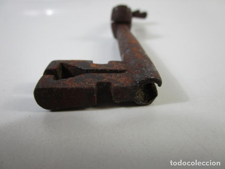 Antigüedades: Antigua Doble Llave de Forja Plegable - Pieza Rara para Coleccionista - S. XVIII - Foto 5 - 207103510