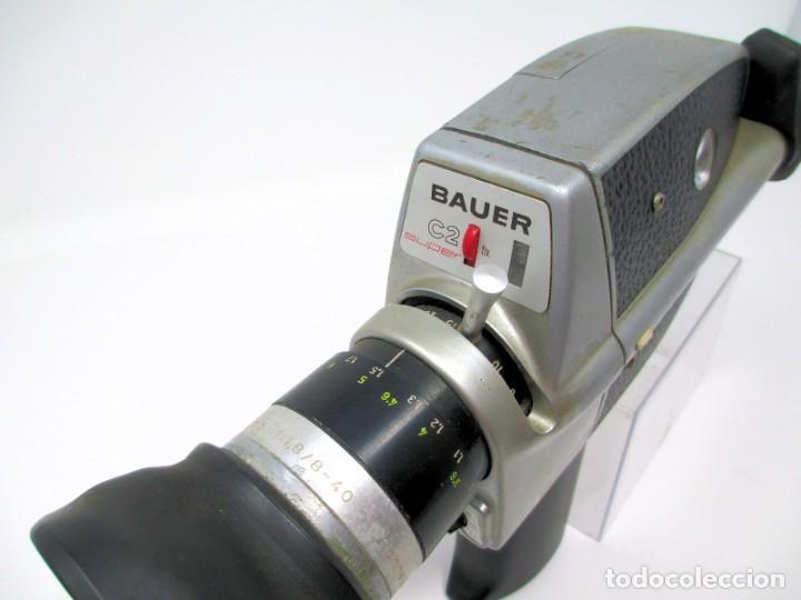 Antigüedades: Tomavistas de Súper 8 mm Bauer C2 Super. (No Funciona) Sólo para Exposición. - Foto 2 - 207125626