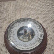 Antiquités: ANTIGUO BARÓMETRO FRANCÉS DE MADERA. Lote 207131701