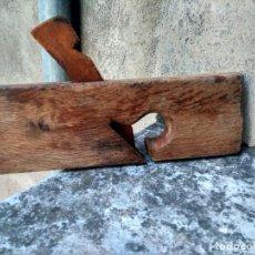 Antigüedades: CARPINTERÍA ANTIGUA - EXCEPCIONAL GARLOPA EN ENCINA O NOGAL - Nº 24 - MUY RARA - PPIOS. SIGLO XX. Lote 207176207