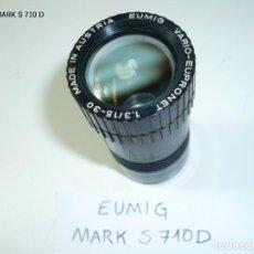 Antigüedades: RECAMBIO PROYECTOR CINE EUMIG MARK S 710 D 8MM SUPER 8 - OBJETIVO CON LENTES DE PROYECCIÓN. Lote 207341300
