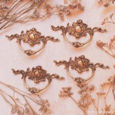 Antigüedades: TIRADORES ANTIGUOS CLÁSICOS DE BRONCE (1 UNIDAD) ANTIQUE UNIQUE. Lote 207349613