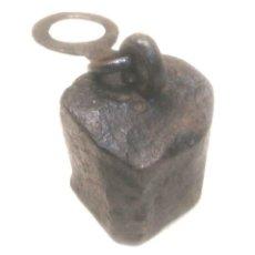 Antigüedades: PESA PONDERAL 605 G PARA BALANZA ROMANA FORJA S XIX, CON CUÑOS FORJA. Lote 207357627