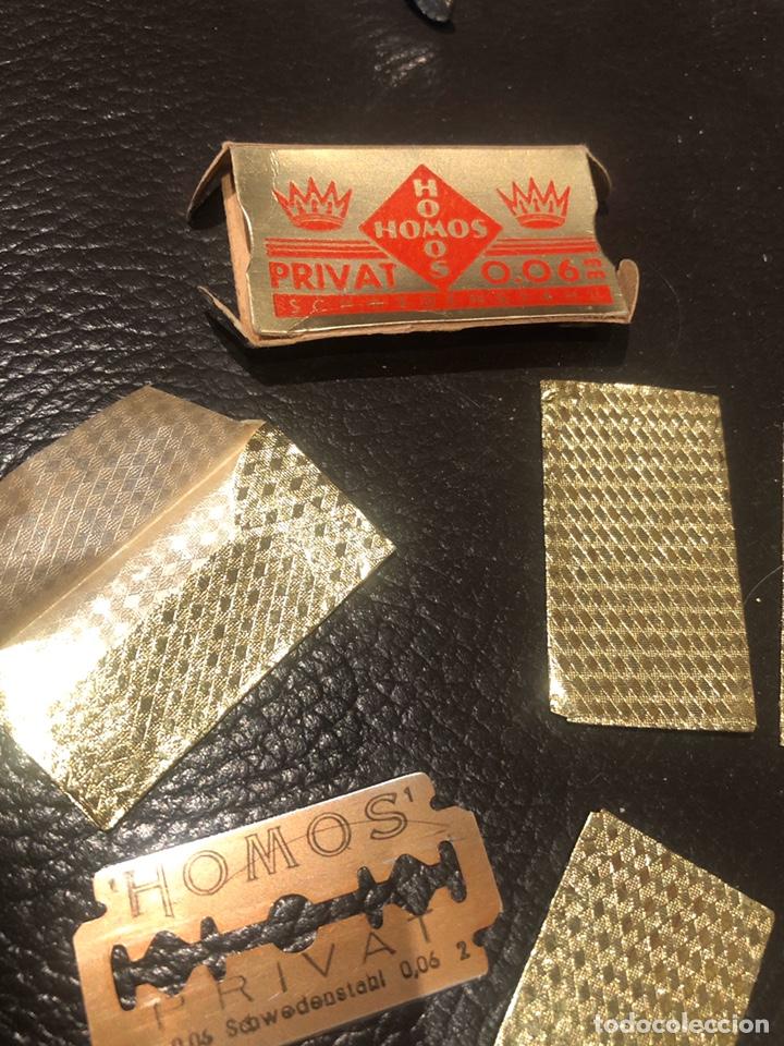 Antigüedades: Hojas afeitar HOMOS paquete 9 cuchillas - Foto 2 - 207410350