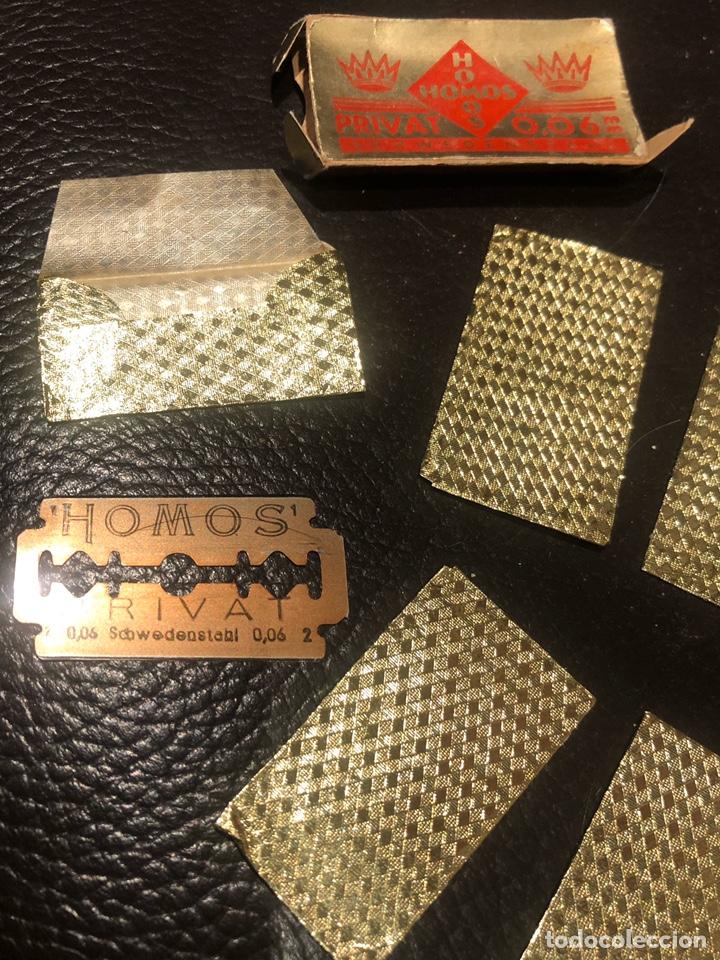 Antigüedades: Hojas afeitar HOMOS paquete 9 cuchillas - Foto 3 - 207410350