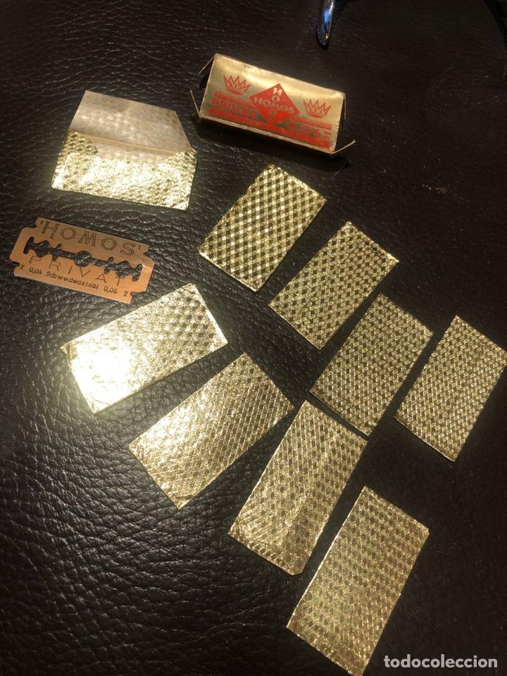 Antigüedades: Hojas afeitar HOMOS paquete 9 cuchillas - Foto 4 - 207410350