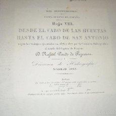 Antigüedades: CARTAS MARINA ANTIGUAS. Lote 207466111