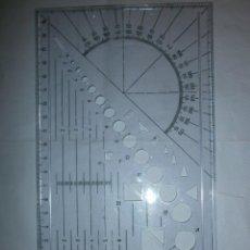 Antigüedades: ROTRING REGLA PLANTILLA DIBUJO. Lote 207520120