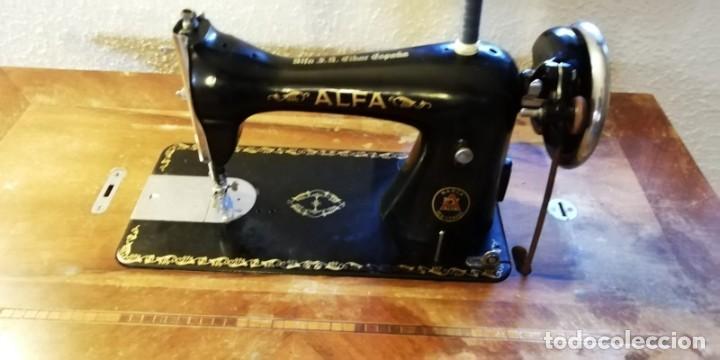 Antigüedades: Maquina de coser antigua Alfa. - Foto 5 - 207587993
