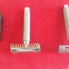 Antigüedades: ANTIGUAS MAQUINAS MAQUINILLAS DE AFEITAR DE BOLSILLO DESMONTABLE. Lote 207597670