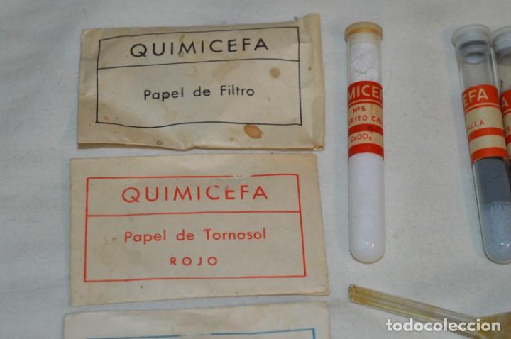 Antigüedades: Lote antiguo de útiles / objetos de QUÍMICA - QUIMICEFA - Cefa y otras ¡Mira fotos y detalles! - Foto 2 - 207707397