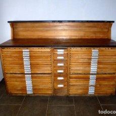 Antigüedades: CHIBALETE MUEBLE DE IMPRENTA.. Lote 207783897