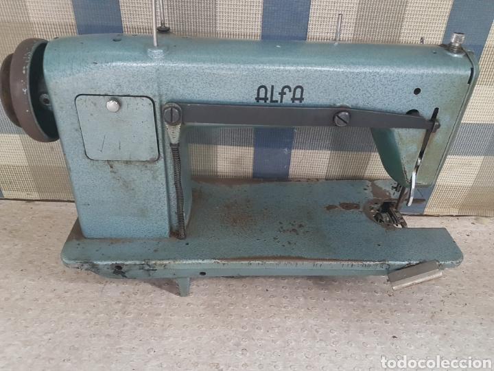 Antigüedades: Máquina coser industrial Alfa - Foto 3 - 207872126