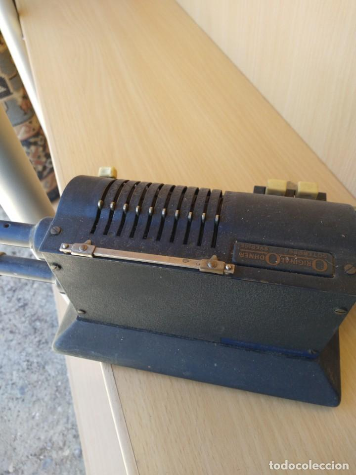 Antigüedades: Sumadora manual de hierro marca Original Odhner - Goteborg color verde - CREO QUE FUNCIONA GIRA - Foto 7 - 49168087
