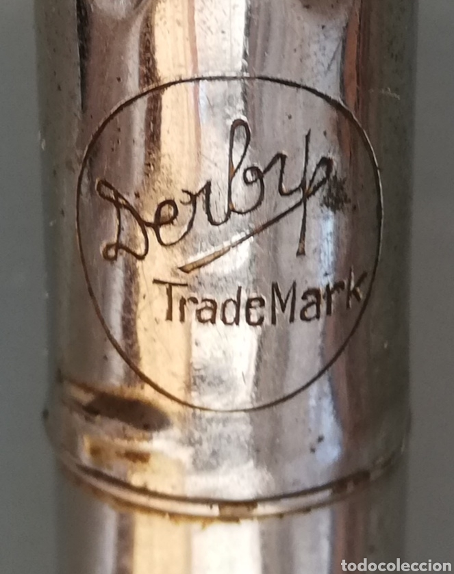 Antigüedades: PERFECT POCKET OILER, DERBY~MADE IN USA - Aceitera de émbolo - 10,5 cm largo - 1,5 cm diámetro - Foto 3 - 207894962
