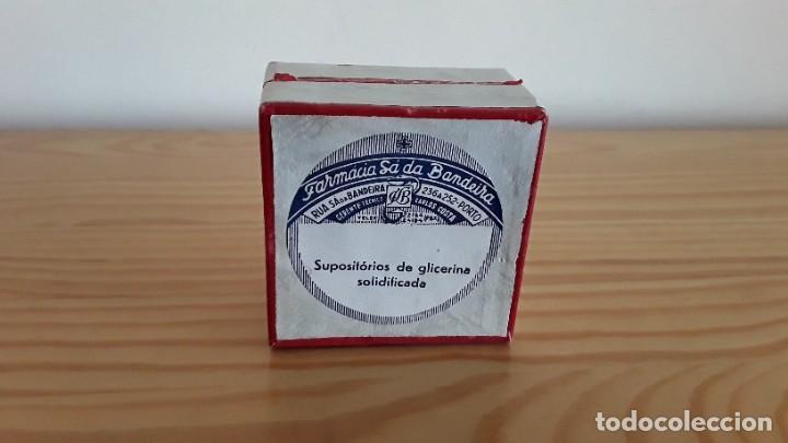 CAJA DE CARTÓN SUPOSITORIOS (Antigüedades - Técnicas - Herramientas Profesionales - Medicina)