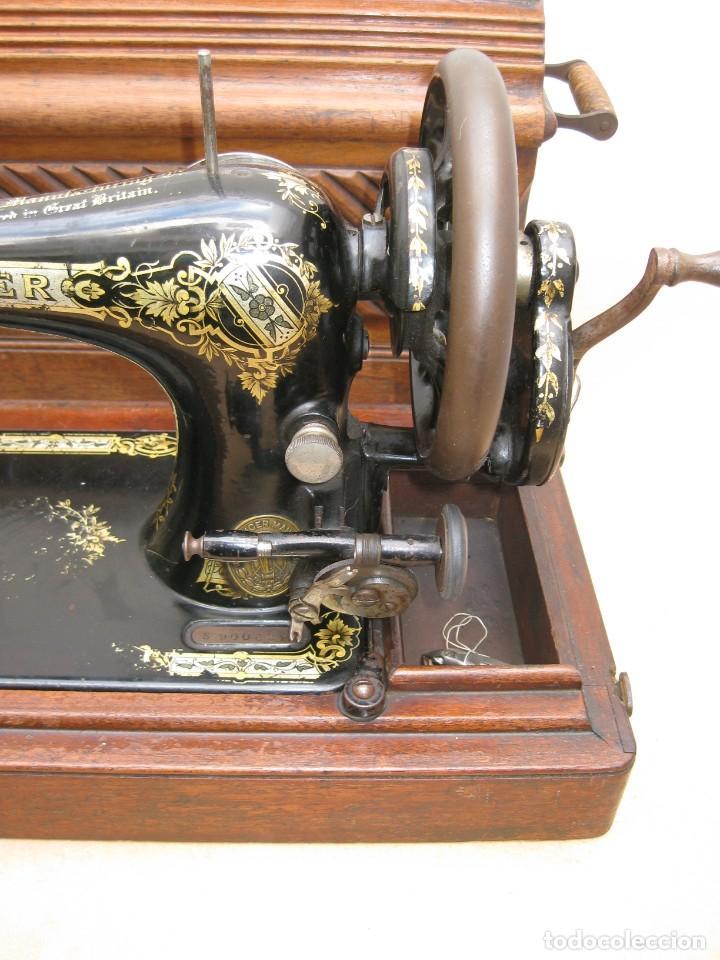 Antigüedades: Maquina coser a manivela Singer.Funciona - Foto 3 - 208045885