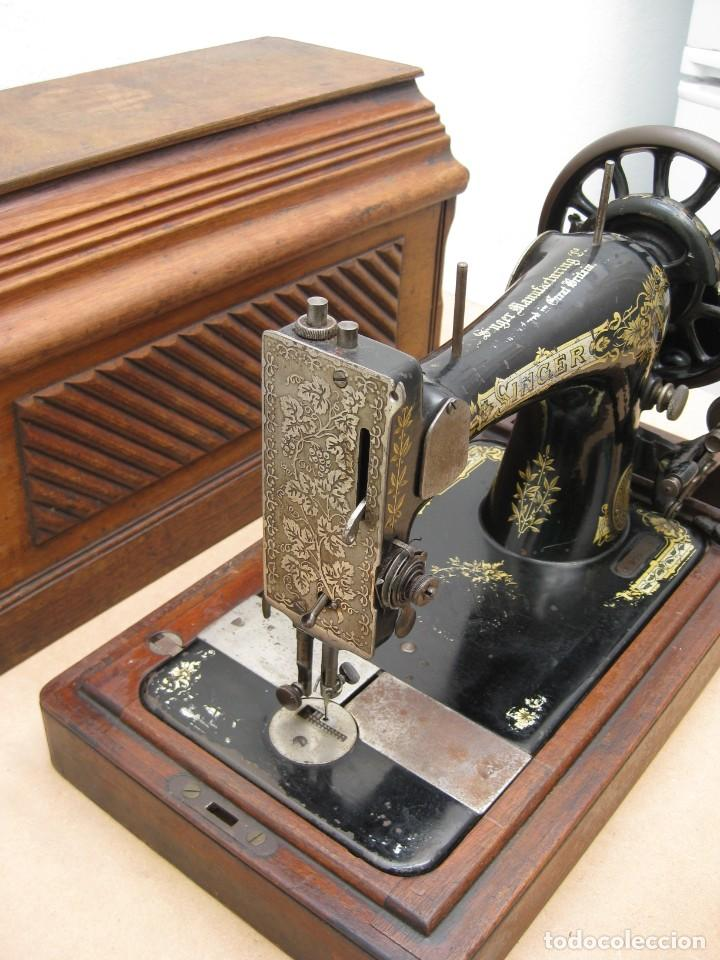 Antigüedades: Maquina coser a manivela Singer.Funciona - Foto 7 - 208045885