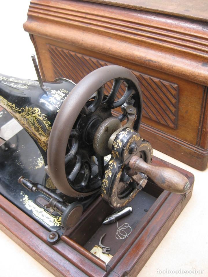 Antigüedades: Maquina coser a manivela Singer.Funciona - Foto 9 - 208045885
