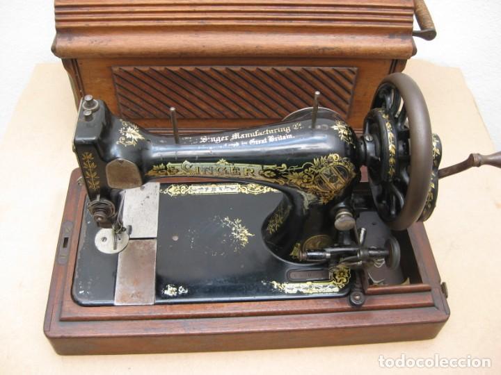 Antigüedades: Maquina coser a manivela Singer.Funciona - Foto 10 - 208045885