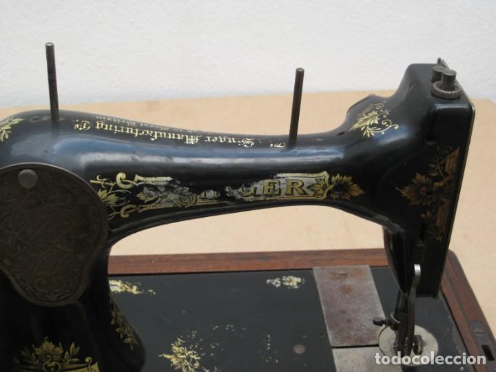 Antigüedades: Maquina coser a manivela Singer.Funciona - Foto 13 - 208045885