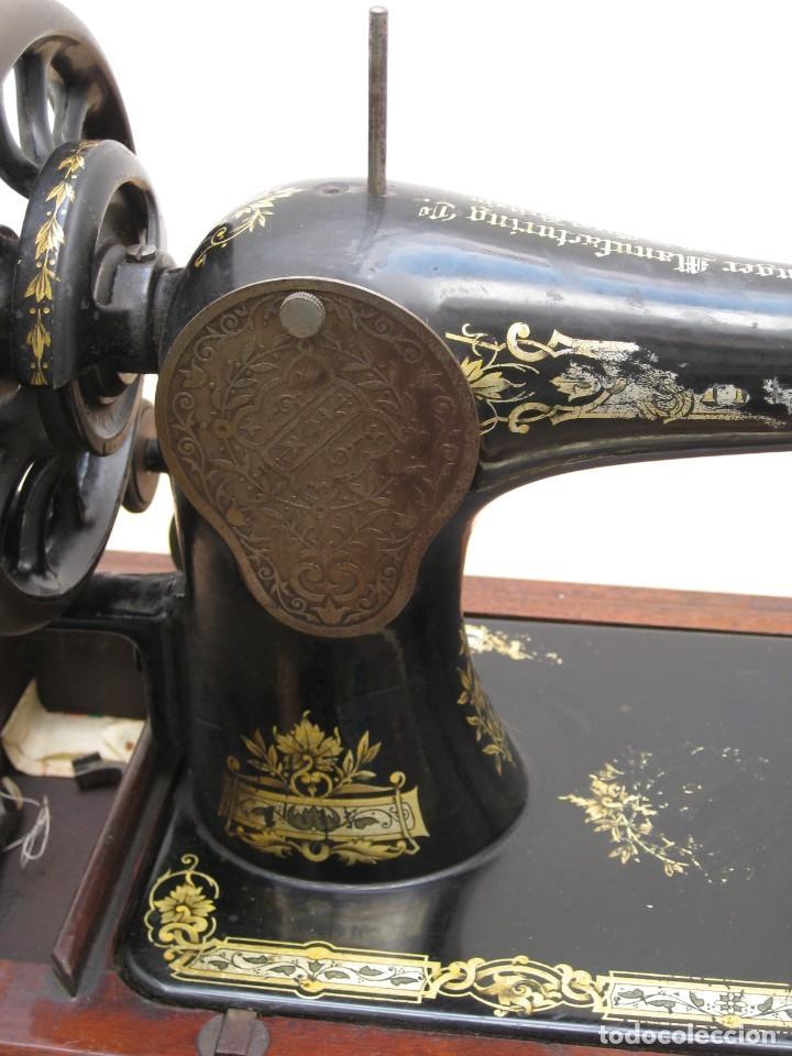 Antigüedades: Maquina coser a manivela Singer.Funciona - Foto 14 - 208045885