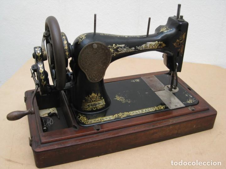 Antigüedades: Maquina coser a manivela Singer.Funciona - Foto 19 - 208045885