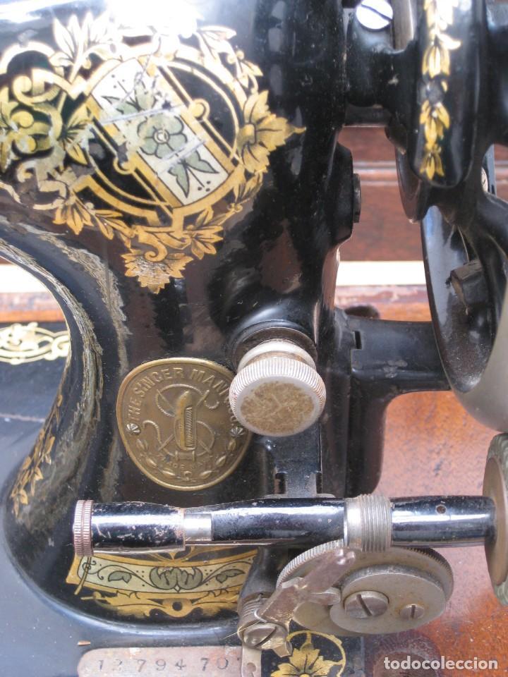 Antigüedades: MAQUINA COSER A MANIVELA SINGER.FUNCIONA - Foto 3 - 208055001
