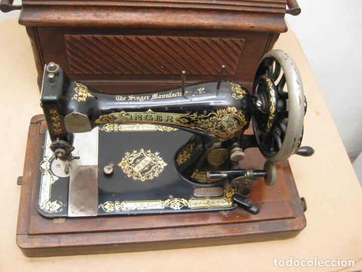 Antigüedades: MAQUINA COSER A MANIVELA SINGER.FUNCIONA - Foto 4 - 208055001