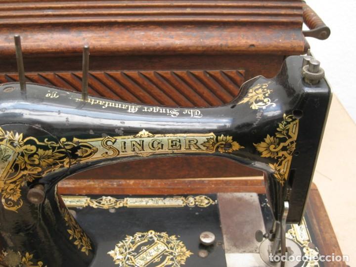 Antigüedades: MAQUINA COSER A MANIVELA SINGER.FUNCIONA - Foto 14 - 208055001
