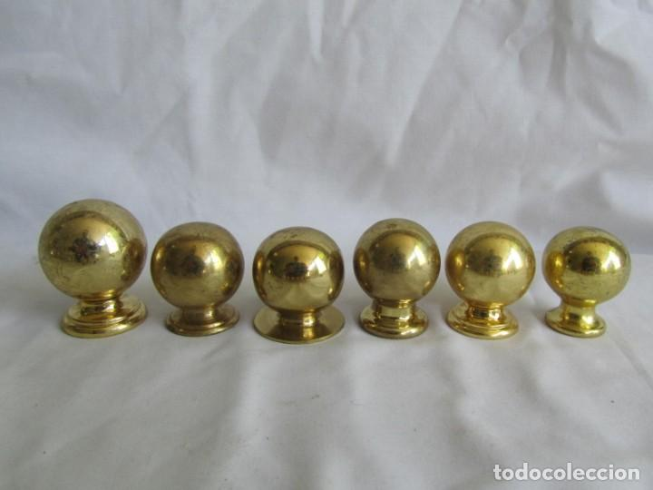 Antigüedades: 21 pomos tiradores de bronce macizo - Foto 7 - 208062566