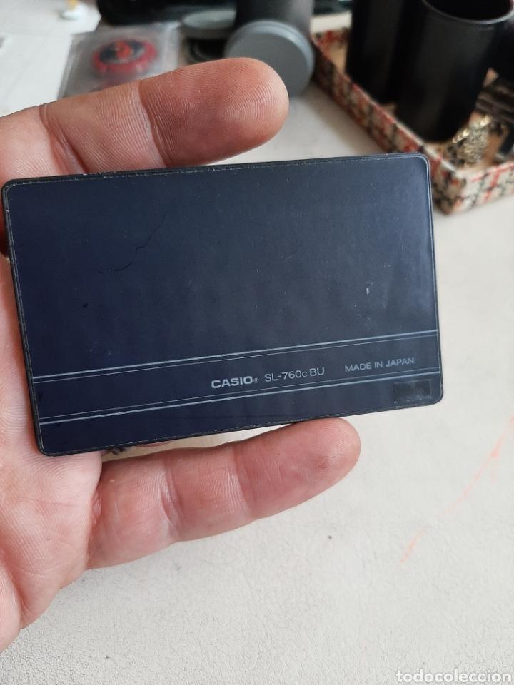 Antigüedades: Calculadora Casio Film Card SL-760c funcionando escasa en funda original - Foto 4 - 208375871