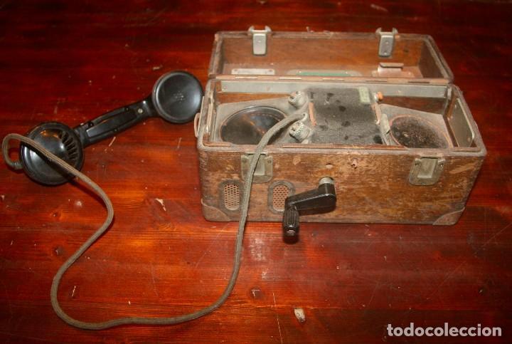 Antigüedades: Teléfono campaña cabina locomotora RENFE - Foto 2 - 208395107