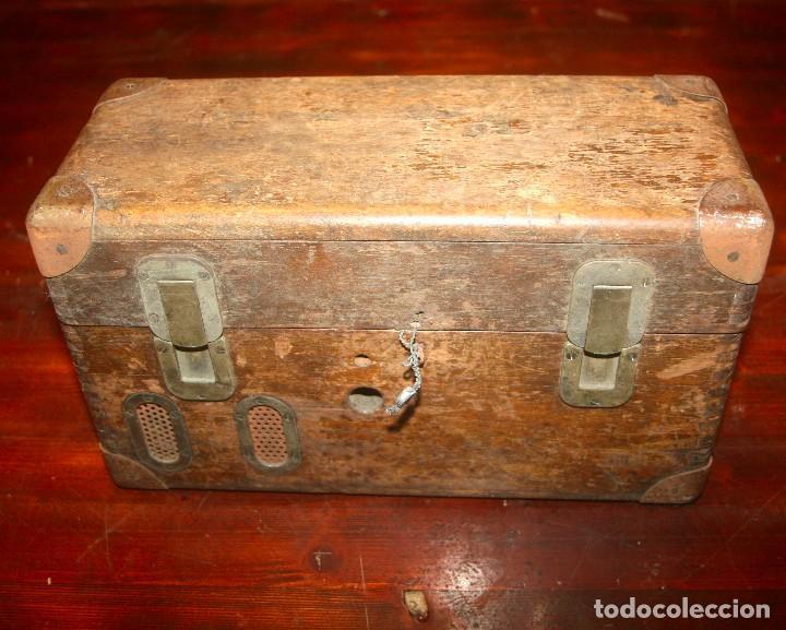 Antigüedades: Teléfono campaña cabina locomotora RENFE - Foto 4 - 208395107