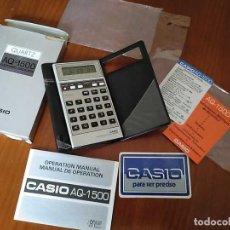 Antigüedades: CALCULADORA CASIO AQ-1500 ELECTRONIC CALCULATOR MADE IN JAPAN. COMPLETA SIN USAR AÑOS 90 RELOJ CRONO. Lote 208397315
