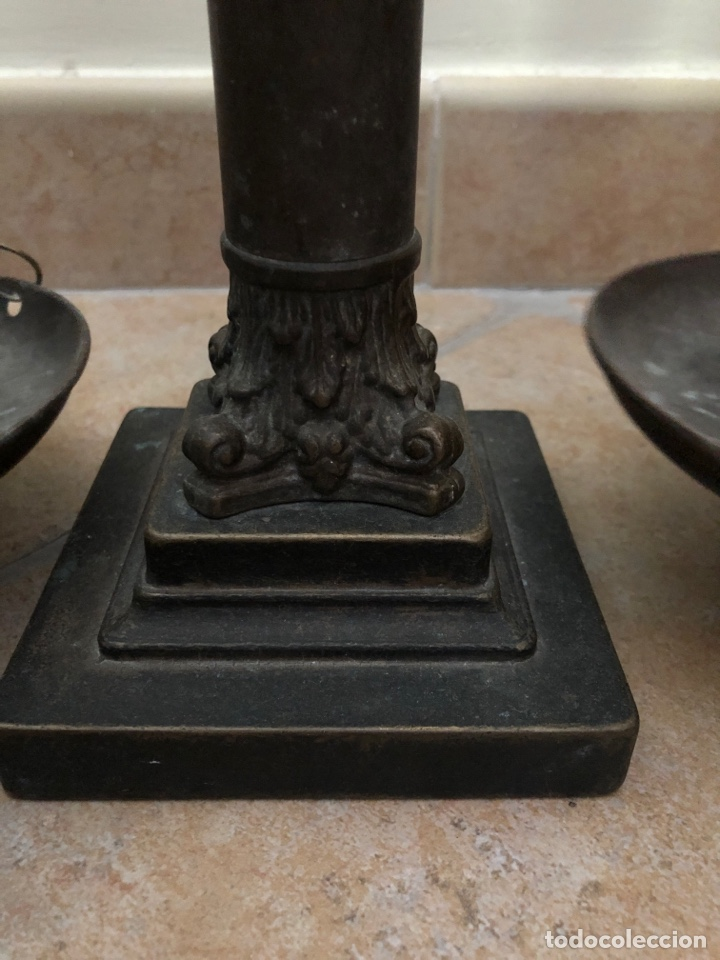 Antigüedades: Bonita balanza de metal - Foto 3 - 208397450