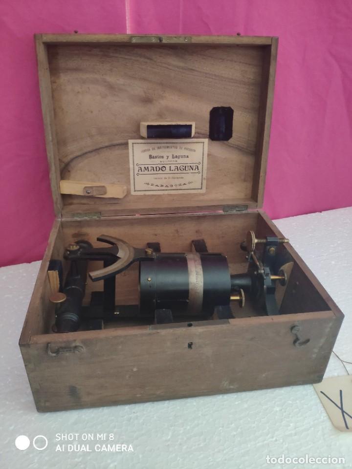 Antigüedades: TEODOLITO FABRICADO EN LA EMPRESA AMANDO LAGUNA - XXX 011 - Foto 4 - 42967062