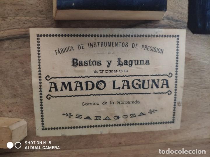 Antigüedades: TEODOLITO FABRICADO EN LA EMPRESA AMANDO LAGUNA - XXX 011 - Foto 5 - 42967062