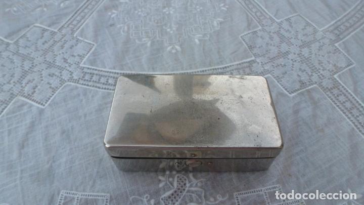 Antigüedades: ANTIGUA MAQUINILLA GUILLETTE-HISPANIA - ESTUCHE ACERO INOXIDABLE Y PORTA CUCHILLAS. - Foto 4 - 208812396