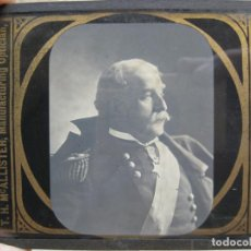 Antigüedades: PLACA, CRISTAL - LINTERNA MAGICA - MAJOR–GENERAL NELSON A. MILES. Lote 208855650