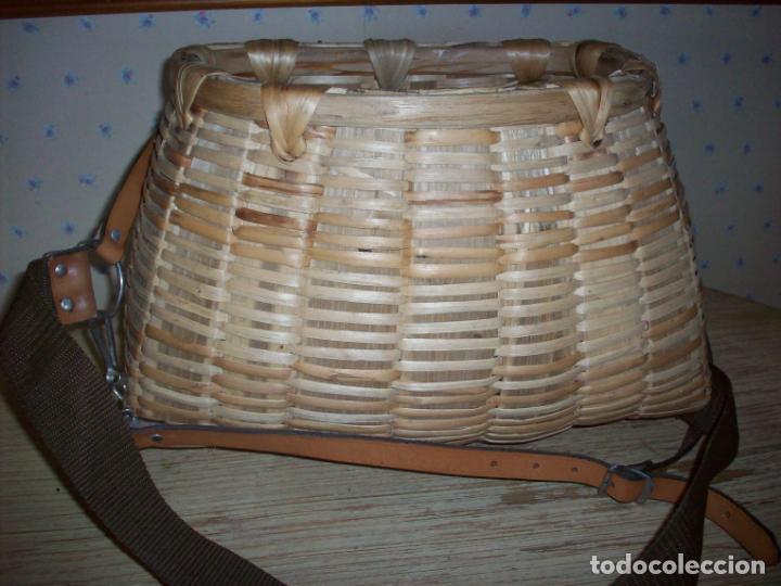 Antigüedades: PRECIOSA CESTA DE PESCADOR EN MIMBRE . - Foto 3 - 208877985