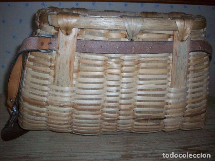Antigüedades: PRECIOSA CESTA DE PESCADOR EN MIMBRE . - Foto 5 - 208877985