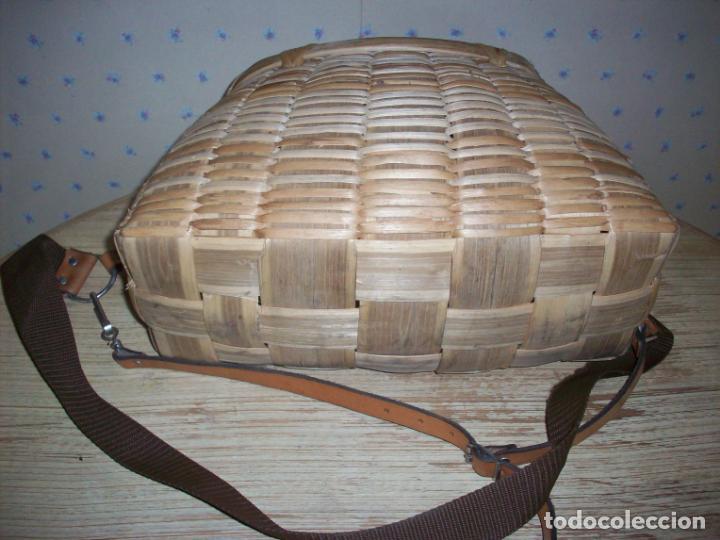 Antigüedades: PRECIOSA CESTA DE PESCADOR EN MIMBRE . - Foto 8 - 208877985